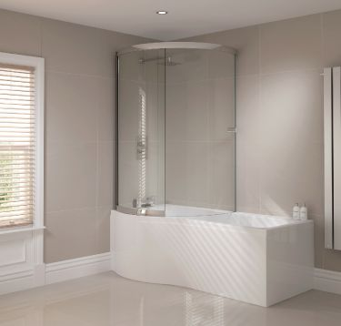 P Shape Sliding Bath Screen
