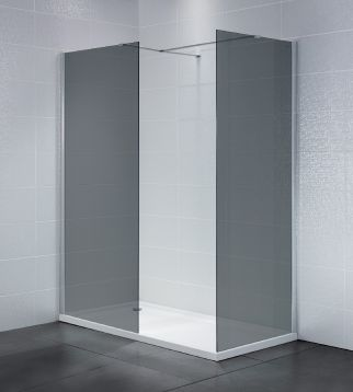 Wetroom with Side Panel (Smoked Glass)