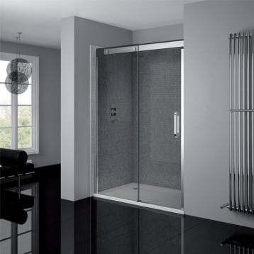 Frameless Sliding Door Smoked Glass Products April