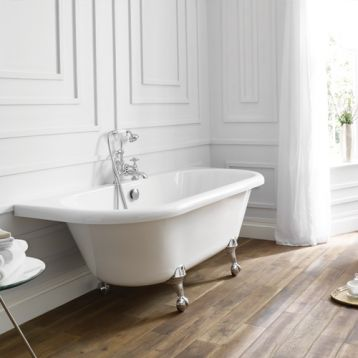 Kildwick back to wall freestanding bath