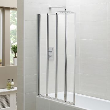 Swiftseal Four Fold Bath Screen